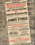 The poster advertising the Blackwater v. Steele boxing match.